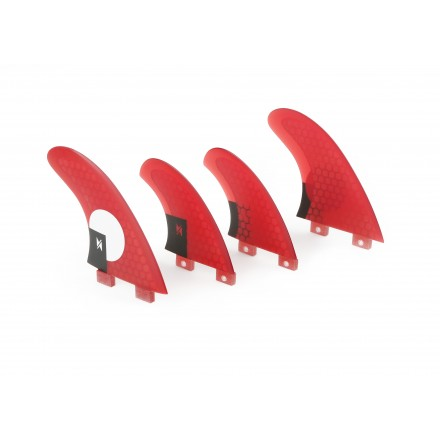 Surf fins quad set